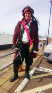 Craig Bryden dressed in full pirate gear